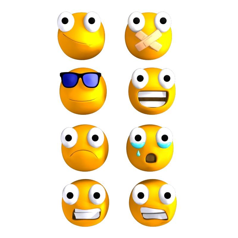 3d model emoticons rigged