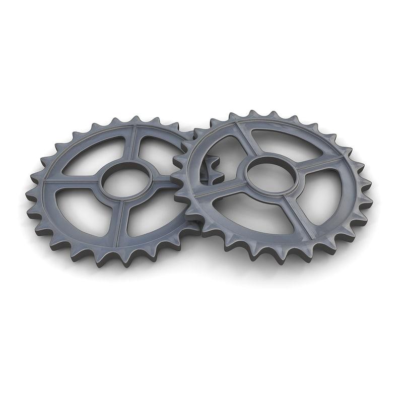 3d gear 02 industrial steam model