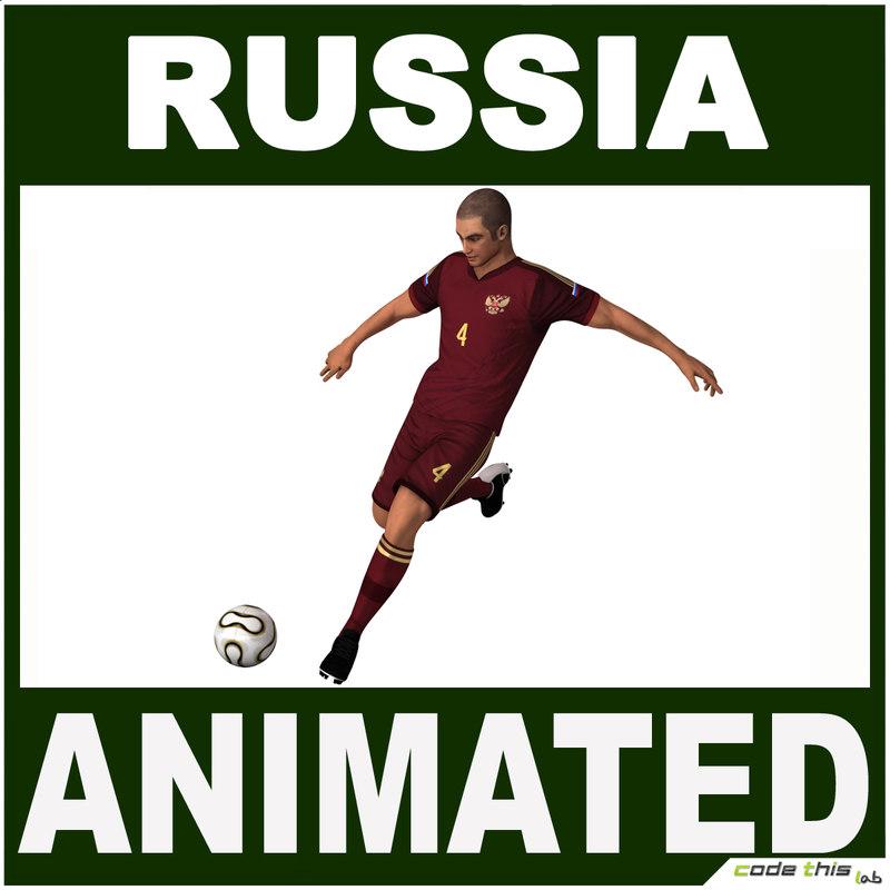 3d model russia jersey ball