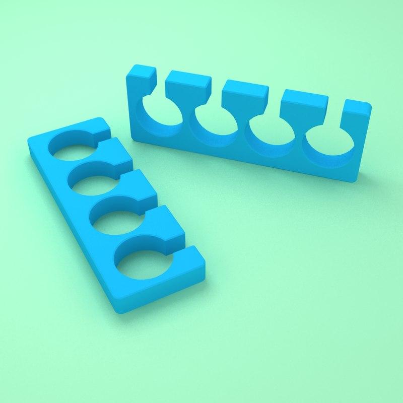 toe separators 3d 3ds