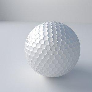 3d golf ball