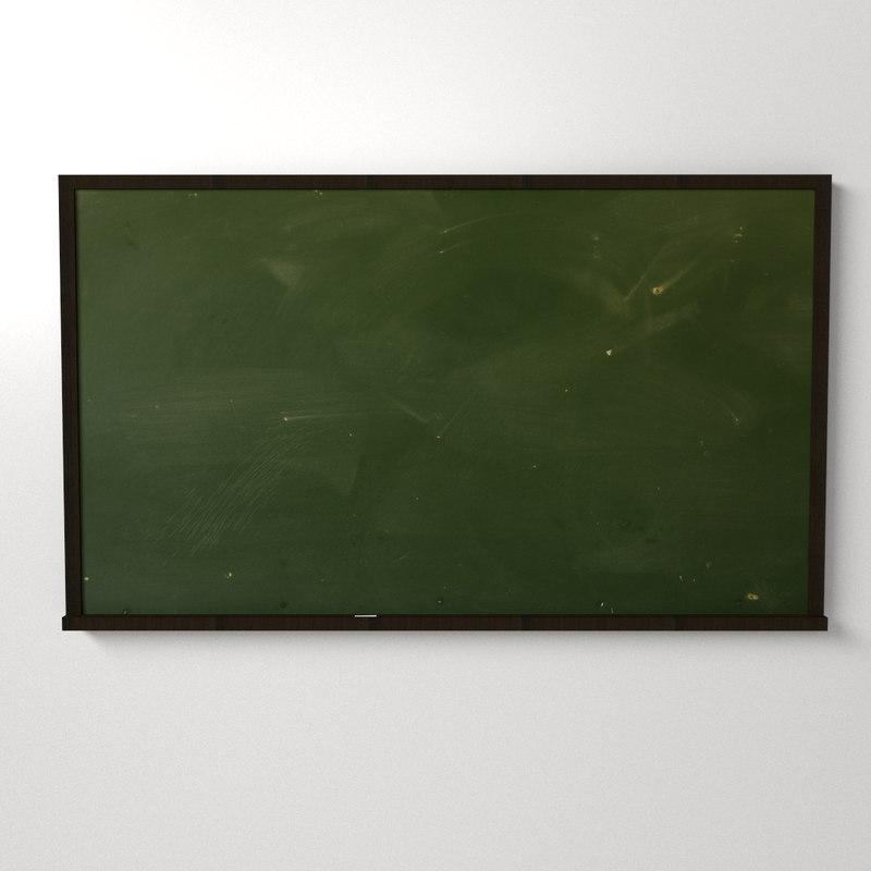 chalkboard chalk board 3d 3ds
