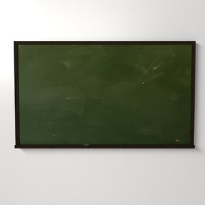 chalkboard chalk board 3d 3ds