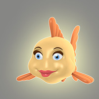 3d cool cartoon fish animation
