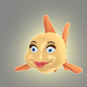 3d cool cartoon fish animation