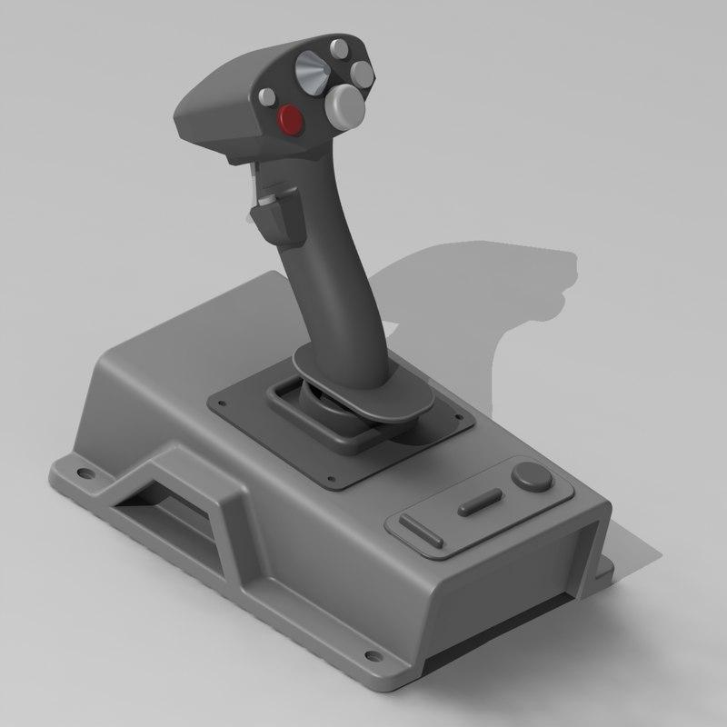 joystick side-stick 3d model