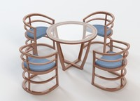 table contemporary modern 3d 3ds