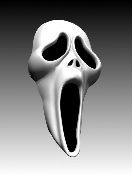 3d scary scream mask model