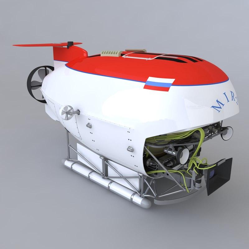 submarine mir-2 3d model