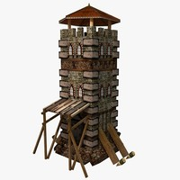 guard tower 3d 3ds