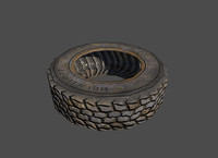 3 Low poly wheel tires