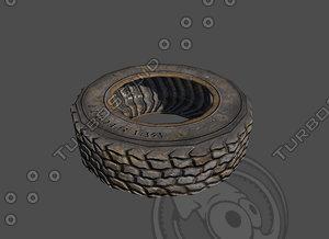 wheel tires 3d obj
