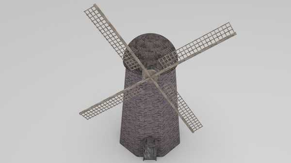 windmill wind 3d obj