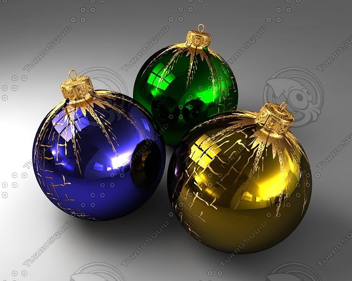 christmas balls ornaments 3d model