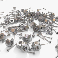 Metallic Rusty Nail and Screw Junk Debris Scrap