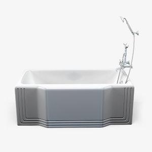 bathtub clean 3d obj