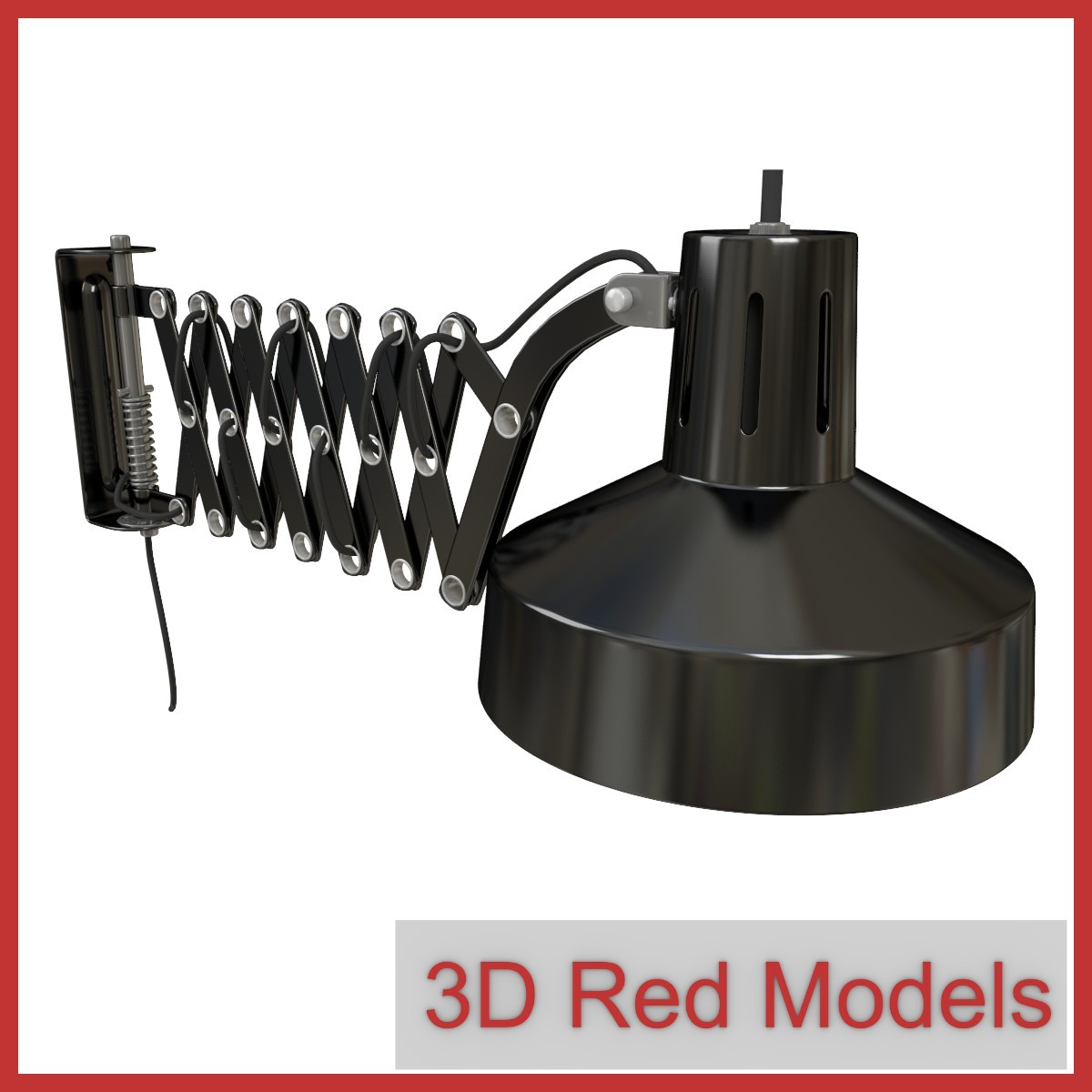 1960s wall lamp 3d x