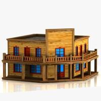 cartoon western building max