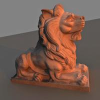 lion sculpture 3ds