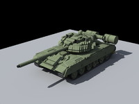 t-80 main battle tank 3d model