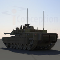 3d abrams tank m1
