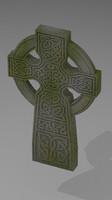 celtic gravestone monument 3d model