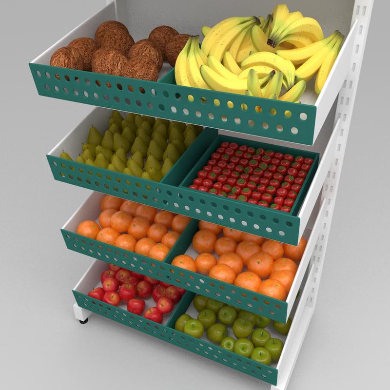 ma fruit shelves modelled