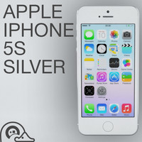 3d apple iphone 5s silver