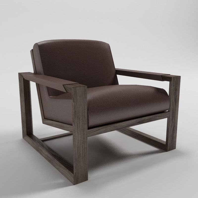 3d model arizona armchair - artefacto
