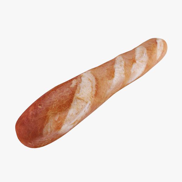baguette 3d max
