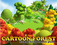 3D Cartoon Forest