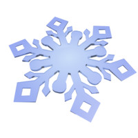 snowflake snow flake 3d model