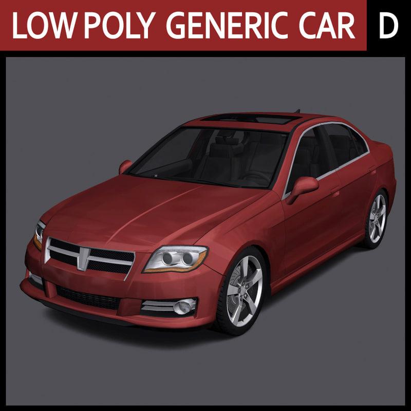 3ds max generic car - d
