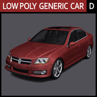 3ds max generic car - d