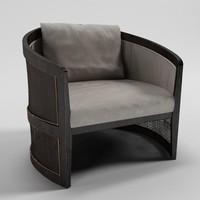 3d model dryga armchair - artefacto