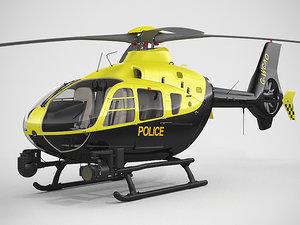 eurocopter ec135 police 3d max