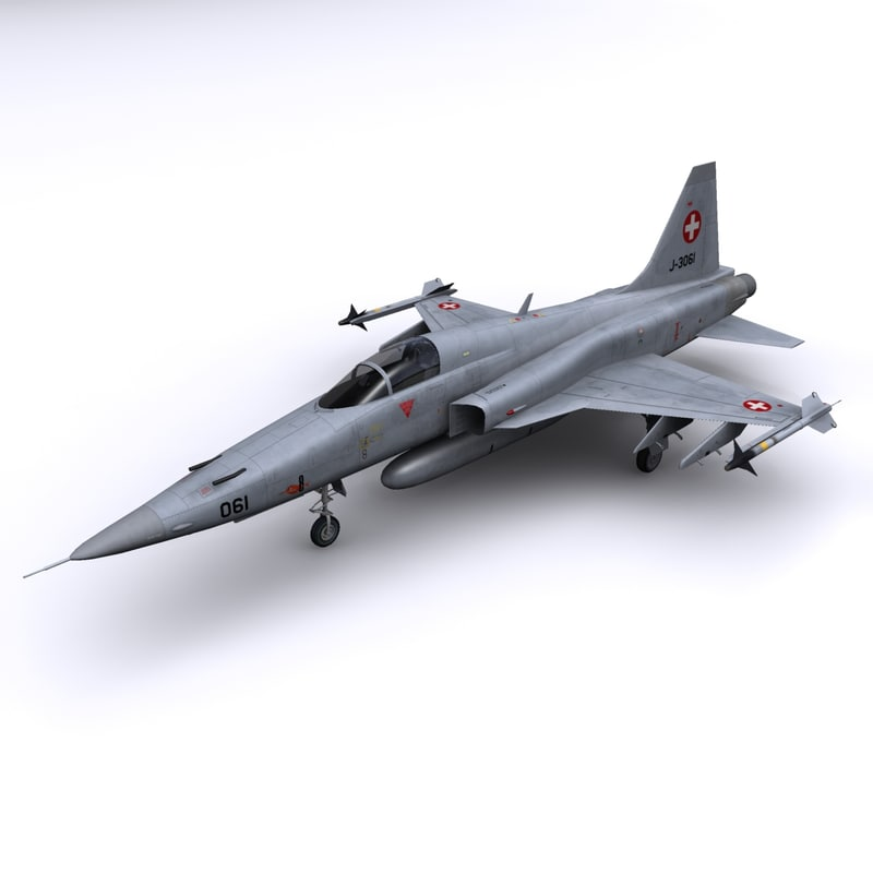freedom fighter f-5e tiger 3d model