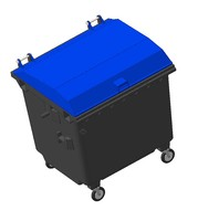 garbage container 3d ige