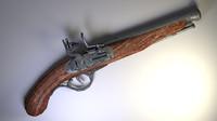 3d blend flintlock pistol