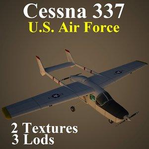 3d model cessna 337 usa aircraft