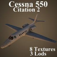 3d cessna 550 model