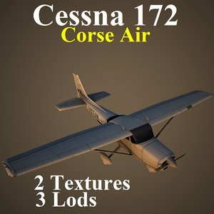 3d cessna 172 csa aircraft model