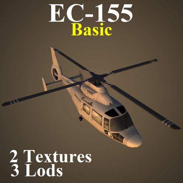 3d eurocopter basic helicopter model