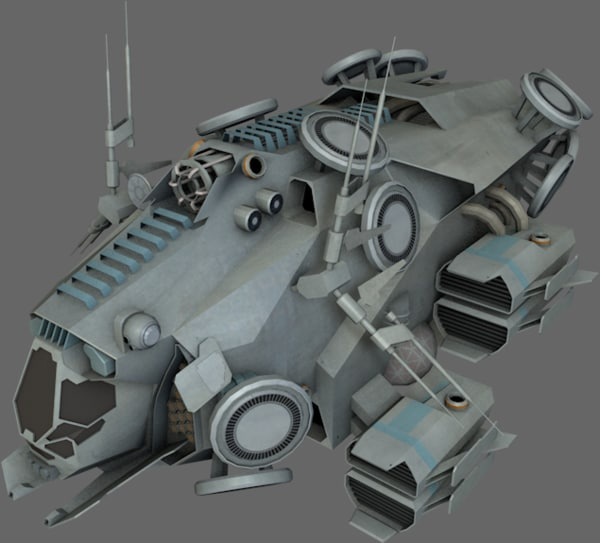 3d 3ds stealth recon ship