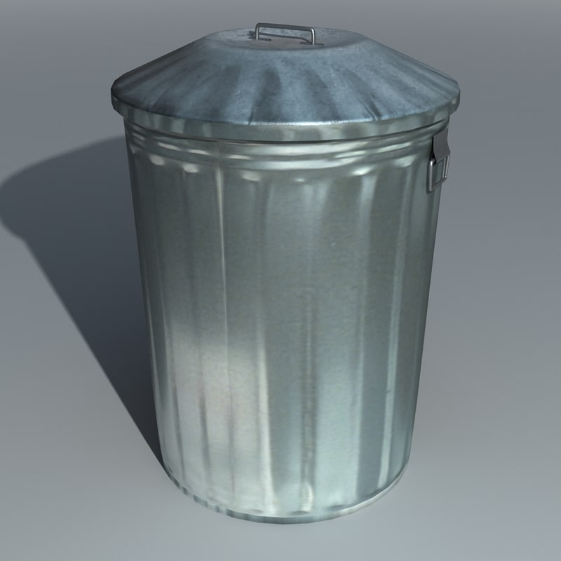 max metal dustbin trashcan