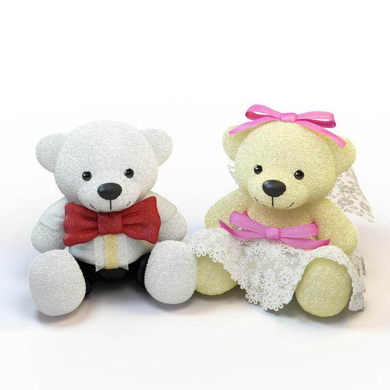 3d wedding bears