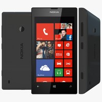nokia lumia 520 black 3d model
