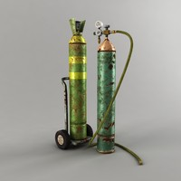 3ds max oxygen cylinder