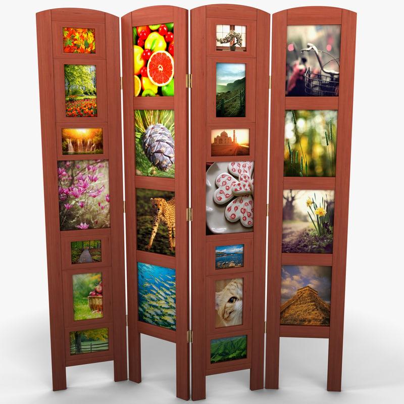 photo frame room divider 3d model