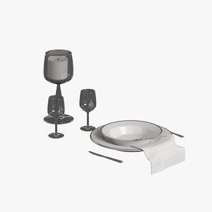 3d model production kitchen